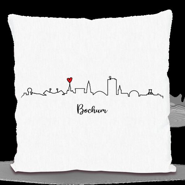 Bild: Kissen mit Skyline von Bochum - Geschenk