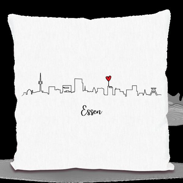 Bild: Kissen mit Skyline von Essen - Geschenk