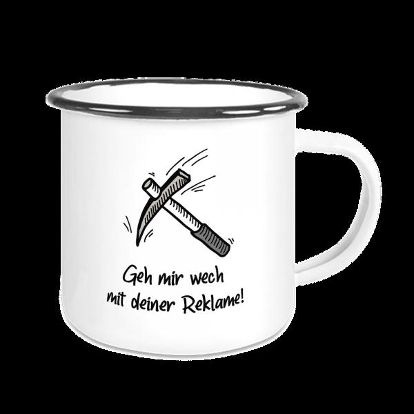 Bild: Emailletasse mit lustigem Spruch Ruhrpott Reklame - Geschenk
