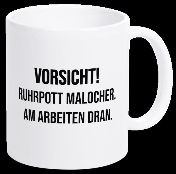 Bild: Tasse mit lustigem Spruch Ruhrpott-Geschenk Maloche