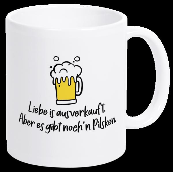 Bild: Tasse mit lustigem Spruch Pilsken Ruhrpott-Geschenk