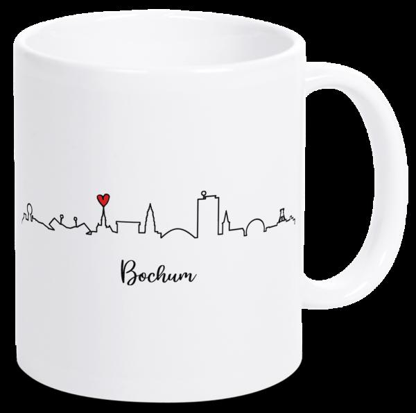 Bild: Tasse mit der Skyline Bochum Ruhrpott-Geschenk