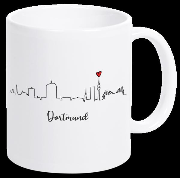 Bild: Tasse mit der Skyline Dortmund Ruhrpott-Geschenk