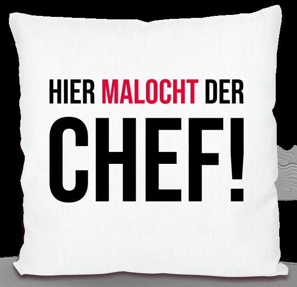 Bild: Kissen mit lustigem Spruch Ruhrpott Chef - Geschenk