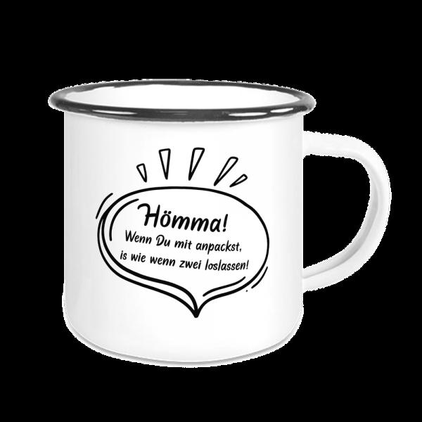 Bild: Emailletasse mit lustigem Spruch Ruhrpott Arbeit - Geschenk