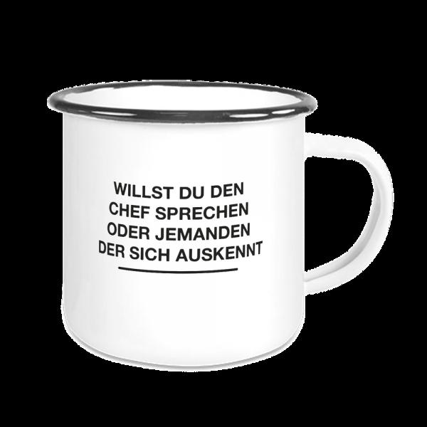 Bild: Emailletasse mit lustigem Spruch Ruhrpott Chef - Geschenk