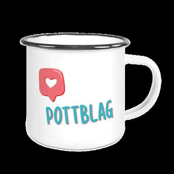 Bild: Emailletasse mit lustigem Spruch Ruhrpott Pottblag - Geschenk