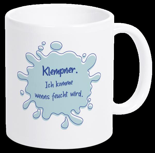 Bild: Tasse mit lustigem Spruch Klempner Ruhrpott-Geschenk