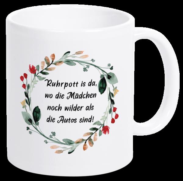 Bild: Tasse mit lustigem Spruch Pottmädchen Ruhrpott-Geschenk