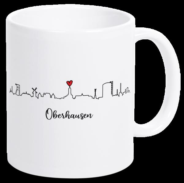 Bild: Tasse mit der Skyline Oberhausen Ruhrpott-Geschenk