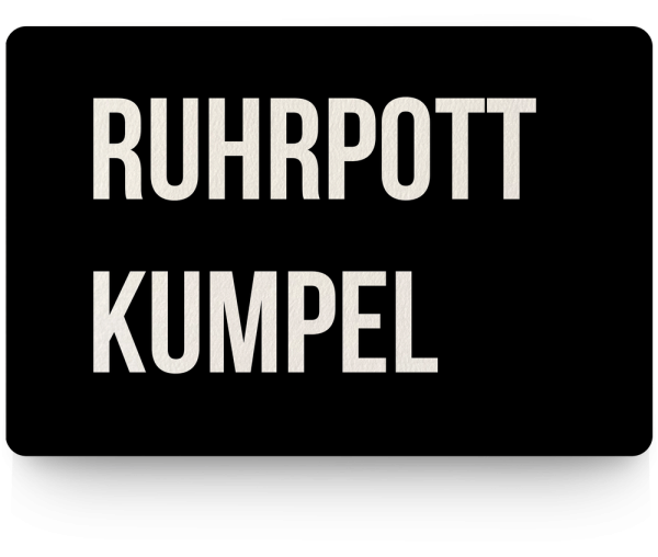 Bild: Fußmatte mit Spruch Kumpel Ruhrpott-Geschenk