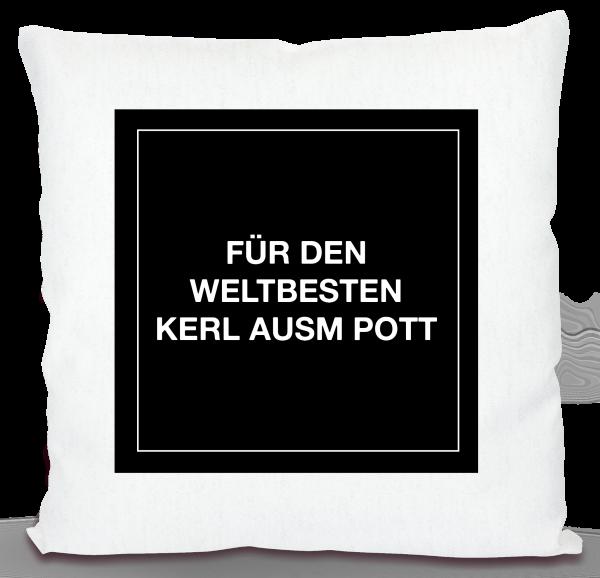 Bild: Kissen mit lustigem Spruch Ruhrpott Freund - Geschenk
