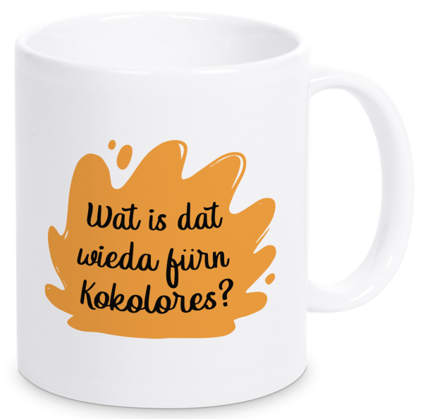 Bild: Tasse mit lustigem Spruch Kokolores Ruhrpott-Geschenk