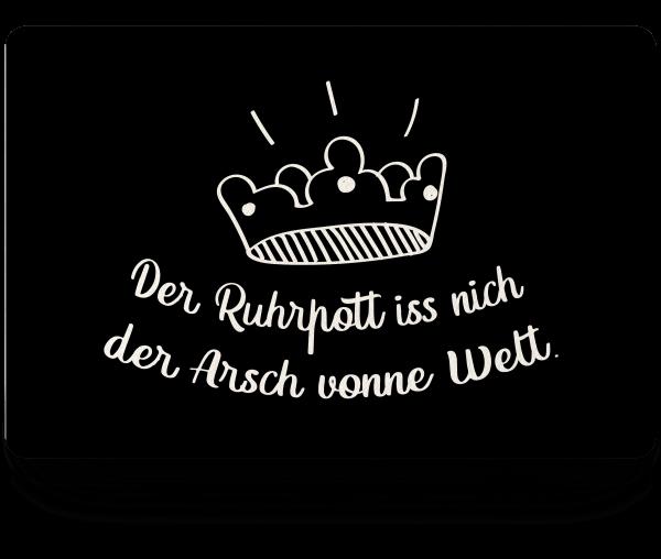 Bild: Fußmatte mit lustigem Spruch Ruhrpott-Geschenk