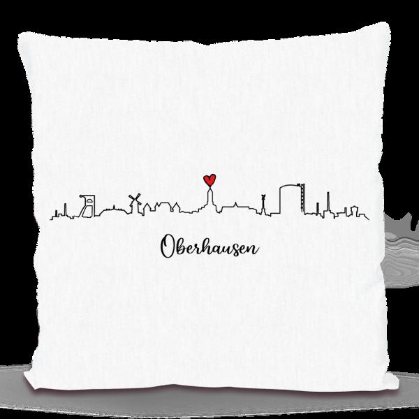 Bild: Kissen mit Skyline von Oberhausen - Geschenk
