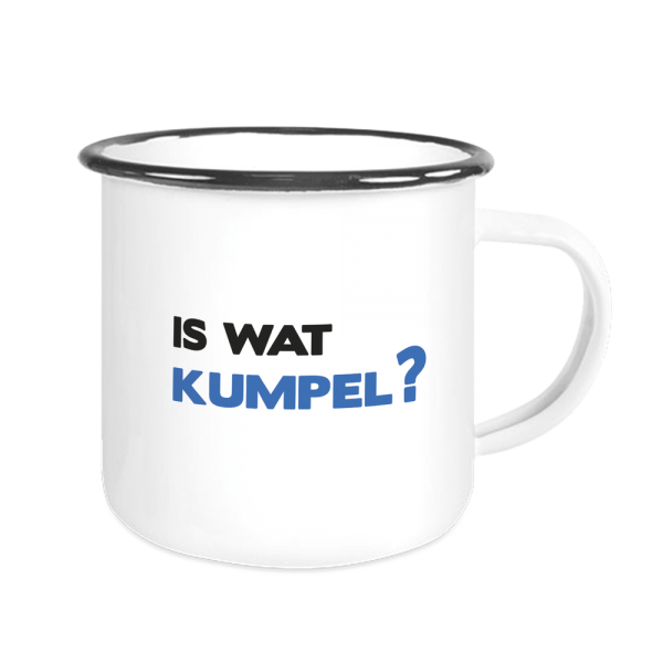 Bild: Emailletasse mit lustigem Spruch Ruhrpott Kumpel - Geschenk