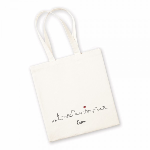 Bild: Jutebeutel mit Skyline Essen - Geschenk
