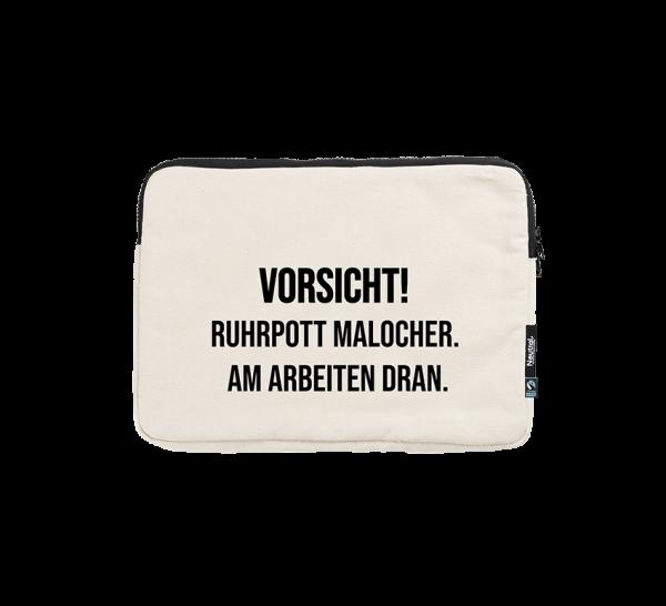 Bild: Laptoptasche mit Spruch Maloche Ruhrpott-Geschenk
