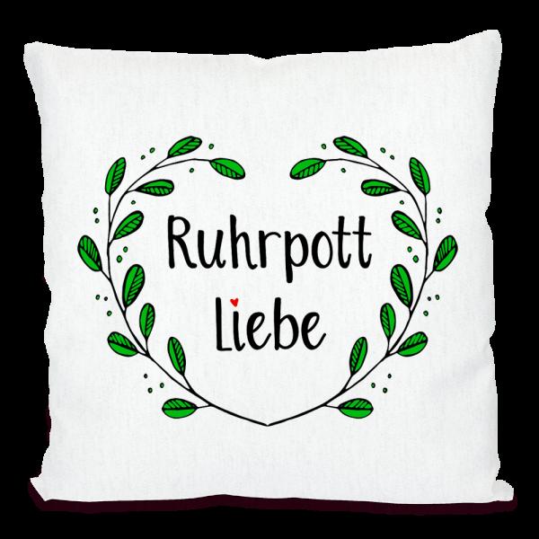 Bild: Kissen mit lustigem Spruch Ruhrpott Liebe - Geschenk