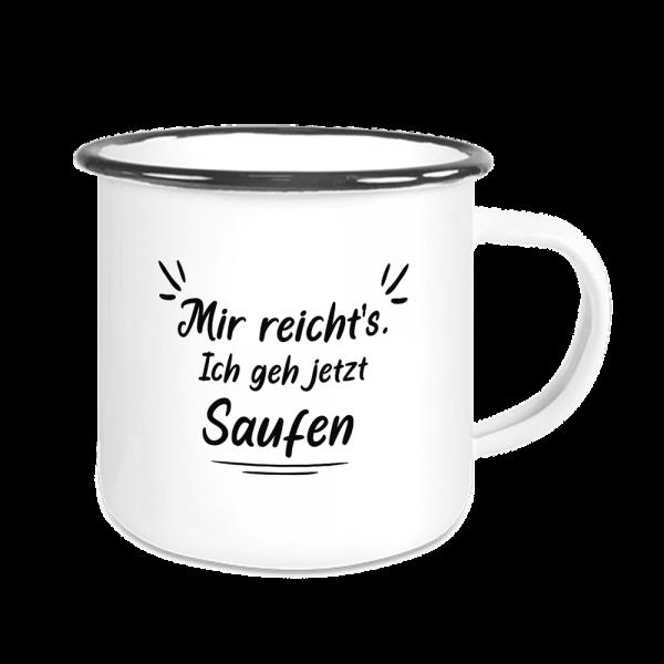 Bild: Emailletasse mit lustigem Spruch Ruhrpott Bier - Geschenk