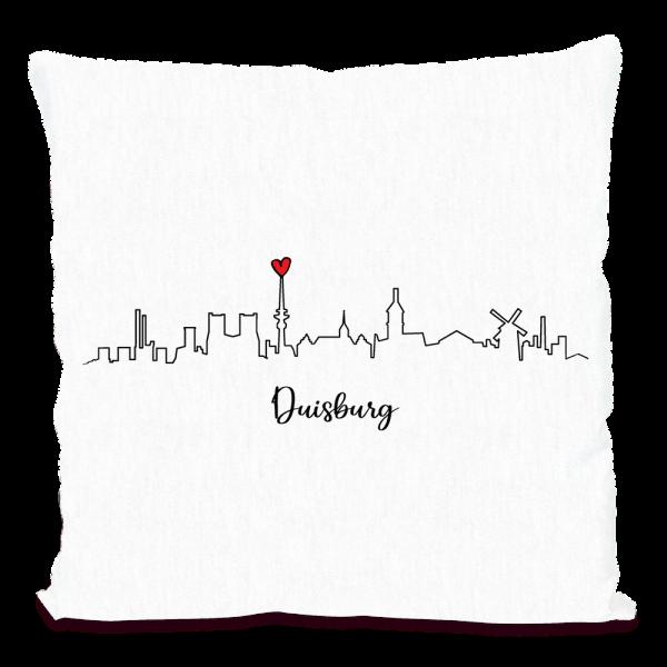 Bild: Kissen mit Skyline von Duisburg - Geschenk