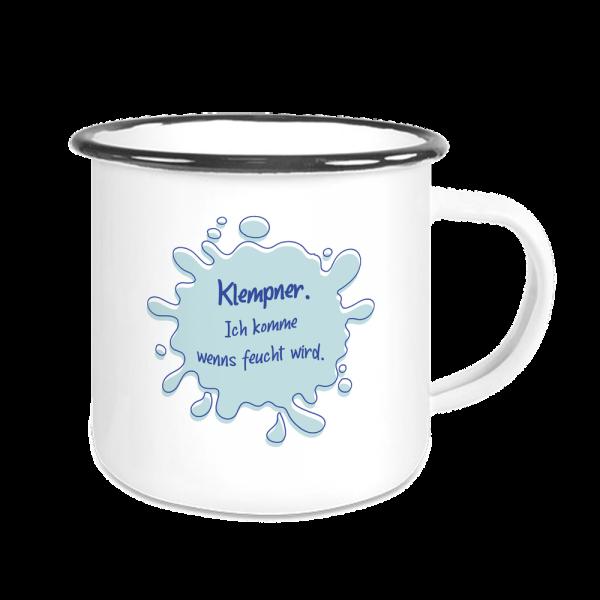 Bild: Emailletasse mit lustigem Spruch Ruhrpott Klempner- Geschenk