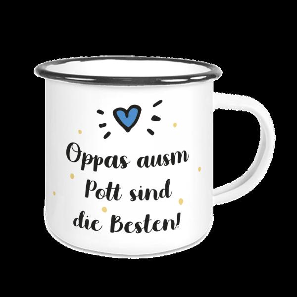 Bild: Emailletasse mit lustigem Spruch Ruhrpott Opa - Geschenk