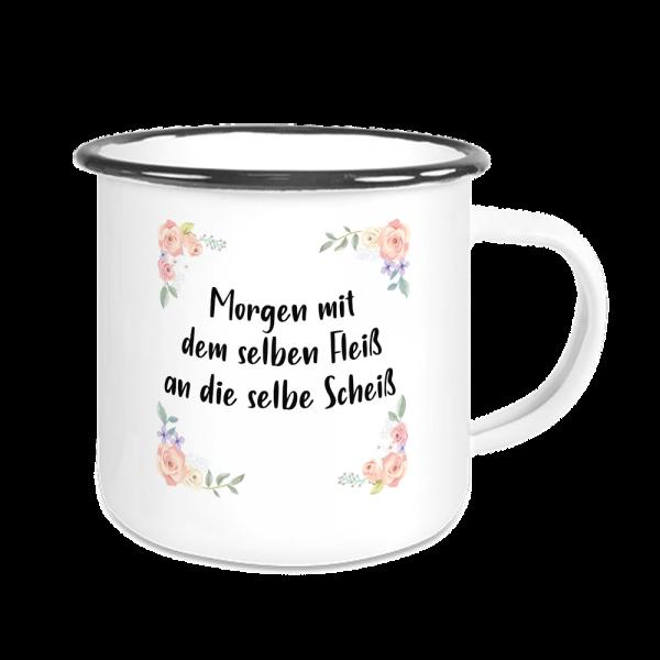 Bild: Emailletasse mit lustigem Spruch Ruhrpott - Geschenk