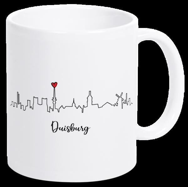 Bild: Tasse mit der Skyline Duisburg Ruhrpott-Geschenk
