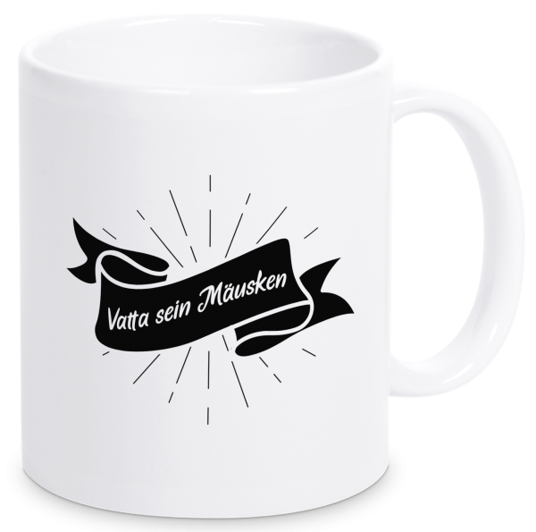 Bild: Tasse mit lustigem Spruch Vater Ruhrpott-Geschenk