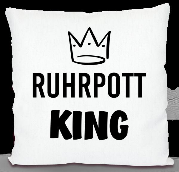 Bild: Kissen mit lustigem Spruch Ruhrpott King - Geschenk