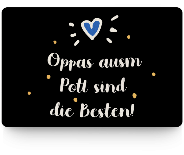 Bild: Fußmatte mit Spruch Opa Ruhrpott-Geschenk