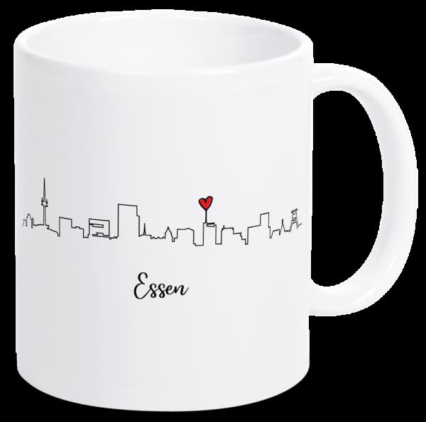 Bild: Tasse mit der Skyline Essen Ruhrpott-Geschenk