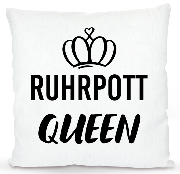 Bild: Kissen mit lustigem Spruch Ruhrpott Queen - Geschenk