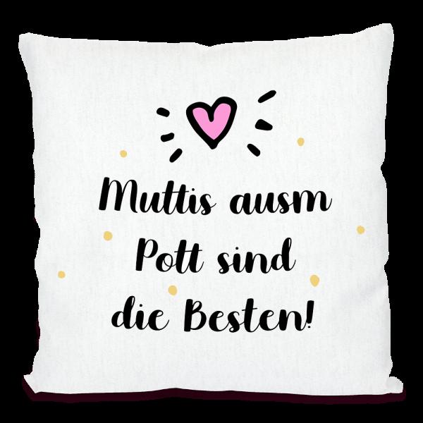Bild: Kissen mit lustigem Spruch Ruhrpott Mutter - Geschenk