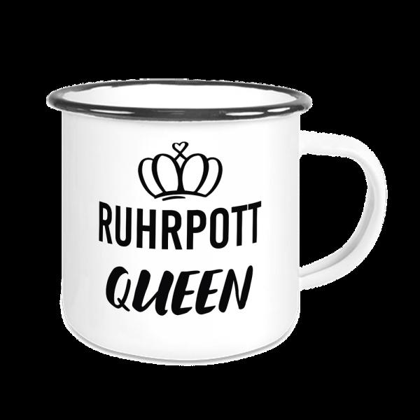 Bild: Emailletasse mit Ruhrpott Queen - Geschenk
