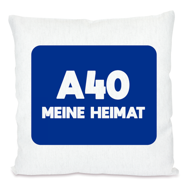 Bild: Kissen mit lustigem Spruch Ruhrpott A40 - Geschenk