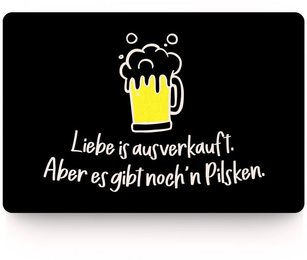 Bild: Fußmatte mit lustigem Spruch Pilsken Ruhrpott-Geschenk