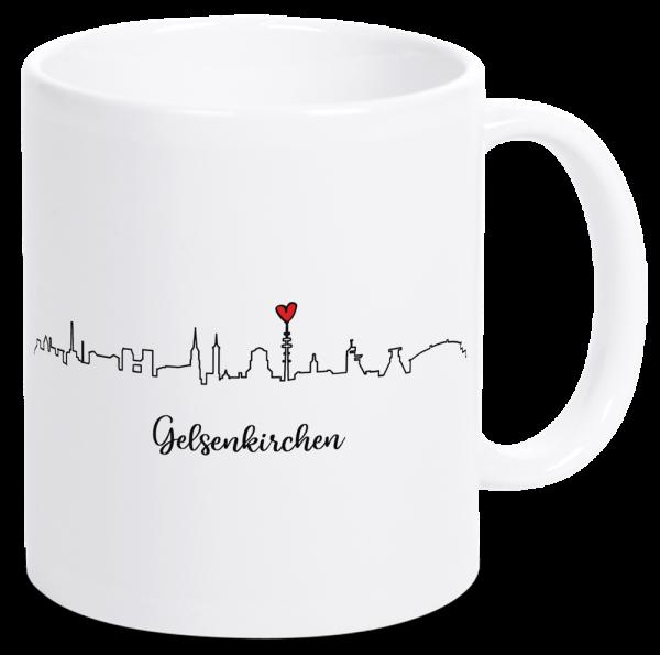 Bild: Tasse mit der Skyline Gelsenkirchen Ruhrpott-Geschenk