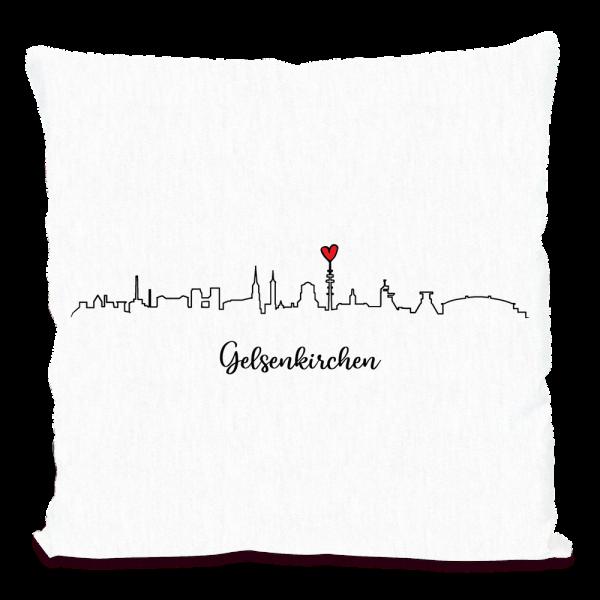 Bild: Kissen mit Skyline von Gelsenkirchen - Geschenk