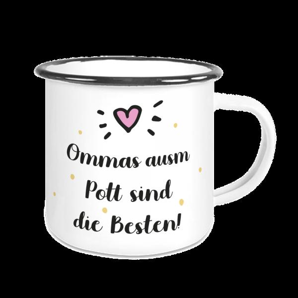 Bild: Emailletasse mit lustigem Spruch Ruhrpott Oma - Geschenk