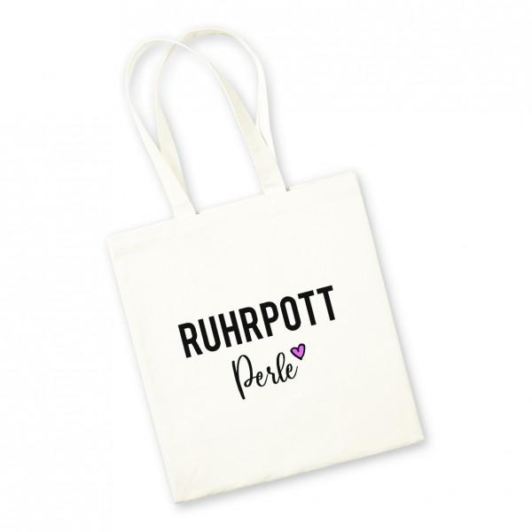 Bild: Jutebeutel mit lustigem Spruch Ruhrpott Perle - Geschenk