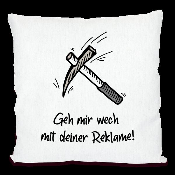 Bild: Kissen mit lustigem Spruch Ruhrpott Reklame - Geschenk
