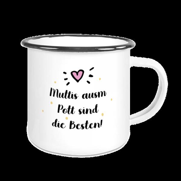 Bild: Emailletasse mit lustigem Spruch Ruhrpott Mutter - Geschenk