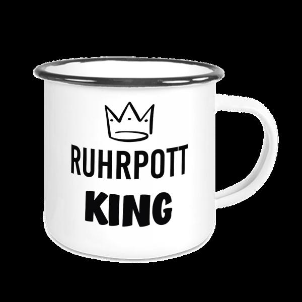Bild: Emailletasse mit Ruhrpott King - Geschenk