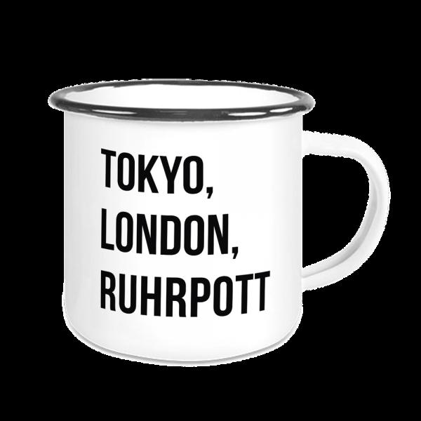 Bild: Emailletasse mit Spruch Ruhrpott Städte- Geschenk